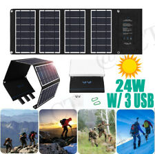 VIVI Solar Panel 24W  W/ 3 USB Portable Foldable for Power Station Generator_NEW
