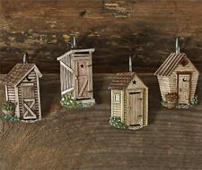 Primitive Country Outhouse Shower Hook Set/12 Farmhouse Bath