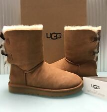UGG Australia Women's Classic Bailey Bow II Boots 1016225 Chestnut Size 10