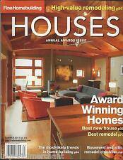 Houses magazine Annual Awards issue Building trends Basement attic remodel