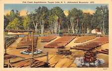 Tupper Lake New York Fish Creek Amphitheatre Antique Postcard J48202