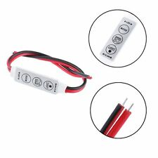 Bare Wire Switch Single Color Inline Controller LED Light Strip Dimmer 3 Keys