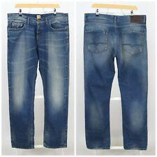 Mens HUGO BOSS Orange Jeans Denim Blue Regular Fit Pants Size W36 / L34
