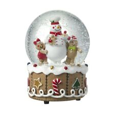 Heaven Sends Gingerbread Design Musical Snowglobe - Christmas Home Decoration