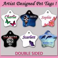 Quality Personalised Pet Tag Frangipani Skull Designer Pets Dog Cat Kitten Puppy