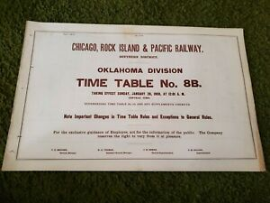 Chicago Rock Island & Pacific Oklahoma Division TT 8B (1/26/1908)(Used)