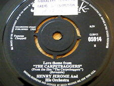 """HENRY JEROME & HIS ORCHESTRA - THE CARPETBAGGERS  7"""" VINYL"""