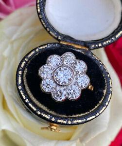 Diamond Cluster Ring 2.25ct Platinum