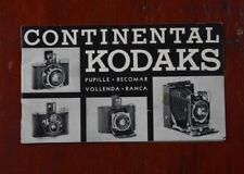 KODAK CONTINENTAL KODAKS CATALOG/cks/215528