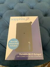 Sapphire S2 - 4G LTE Global Hotspot WiFi Modem - Black 130 Countries 1GB Free