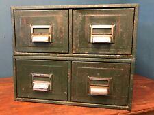 Vintage Metal Index Card Filing Cabinet.