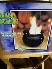 Gemmy Halloween Flame Light Cauldron Lights Fan Blown Realistic Flames