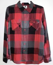 QUIKSILVER Men's VEDDER CHEDDER L/S Flannel Shirt - RRD1 - Small - NWT