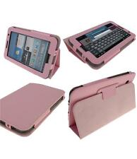 "Samsung Galaxy Tab 2 10"" Baby Pink PU Leather Flip Stand quality Tablet Case"
