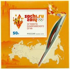RUSSIA 2013 S/S 2014 Olympic Paralympic Games in Sochi. Olympic Torch Relay MNH