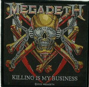 MEGADETH killing is my business 2020 WOVEN SEW ON PATCH official merchandise