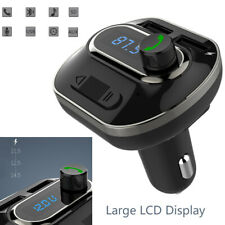 Bluetooth Wireless Car AUX Stereo Audio Receiver FM Radio Adapter USB Charger US