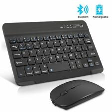 Keyboard Mouse Mini Rechargeable Bluetooth Noiseless Ergonomic PC Tablet With TV