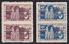 VIETNAM NORTH 1945/6 Sc L47/48 in pairs NHVF