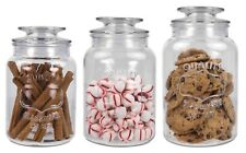 Home Basics 3 Piece Canister Set With Lid