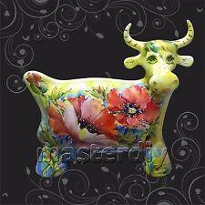 COW -  Turov ART Ceramic Figurine, Decorative Collectibles, Russia