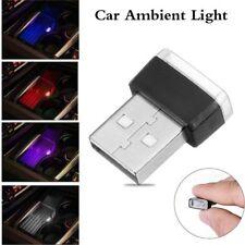 Mini USB LED Luz de la atmósfera Iluminación interior del coche Bombilla auto