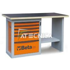Banco da lavoro 1,5 mt e cassettiera Beta C59C Orange in acciaio piano in legno