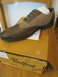 Redfoot Brown & Stone Suede Mens Gatsby Shoe UK 9/Euro 43 RRP £89.99