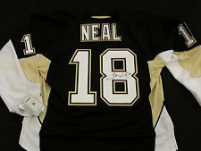 James Neal Signed Official Pittsburgh Penguins Pro RBK Home Jersey RPM COA