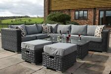 Conservatory MODULAR 8 Seater Rattan Corner Sofa Set Garden Furniture