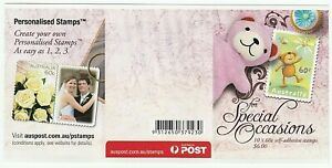 2010 SELF ADHESIVE BOOKLET 'FOR SPECIAL OCCASIONS - DANCING BEAR' 10 x 60c MNH