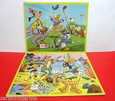 Disney's Mickey Mouse Club Vintage Puzzles Frame-Tray 1962 Lot of 2 Golf Pirates