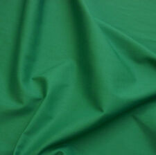 Plain Jade Green Poly Cotton Fabric - Christmas - (Per Metre)