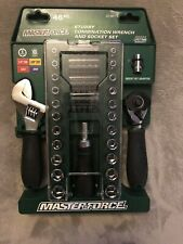 MasterForce 46 Piece Tool Set - 1/4 & 3/8 - New