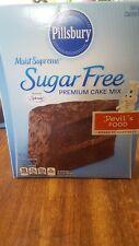 Pillsbury super moist sugarfree devils food cake mix lot of 2