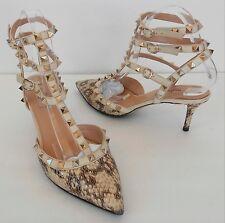 VALENTINO GARAVANI Rockstud python pump heels Sz 39 1/2