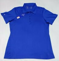 NEW Antigua Womens Pure Desert Dry Golf Polo Shirt Blue Size M Medium