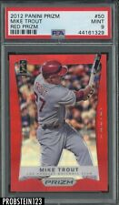 2012 Panini Red Prizm #50 Mike Trout Angels PSA 9 MINT