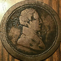 LOWER CANADA BUST/SHIP COLONIES AND COMMERCE Rare Mule HALFPENNY TOKEN Br.1002