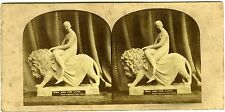 PHOTO stéréo 1860 Spenser's Faerie Queene Una and the Lion
