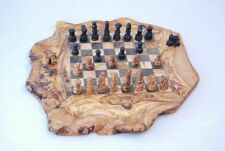 Olive Wood Natural Edge Chess Set Board