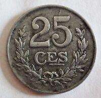 Luxemburg - 25 Centimes - 1920 - Eisen - ss / sehr schön / very fine erhalten