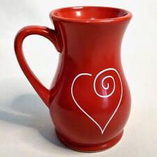 EDIBLE ARRANGMENT Collector Red Heart Coffee Tea Drinking Mug - 6 inches tall