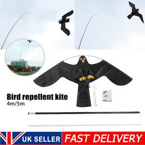 Garden Bird Repeller Scarer Flying Hawk Kite Extending with 4/5mTelescopic Pole