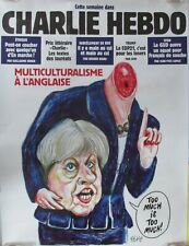 AFFICHE PUBLICITAIRE CHARLIE HEBDO MULTICULTURALISME A L ANGLAISE THERESA MAY