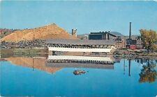 Groveton NH~Ammonoosuc River~Covered Bridge~Paper Company Plant~1950s