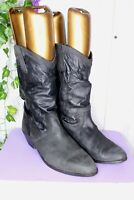 Giovanna Vintage 9.5 M Black Leather Women's (?) Boots