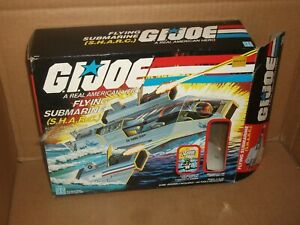 1984 GI JOE GIJOE SHARC S.H.A.R.C. Flying Submarine W/box