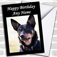 Australian Kelpie Dog Birthday Customised Card
