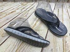 Dr.Scholl's Caroline Women's Black/White Thong Flip Flop Sandals Sz 6 M